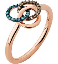 Links Of London Treasured 18Ct Rose Gold Vermeil And Diamond Ring