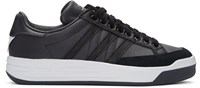 Adidas X White Mountaineering Black Leather Court Sneakers