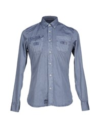 North Sails Denim Denim Shirts Men Blue