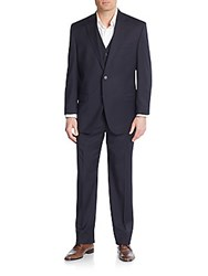 Lauren Ralph Lauren Regular Fit Three Piece Wool Suit Navy