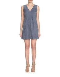 1.State Faux Suede Shift Dress Grey