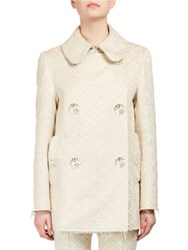 Simone Rocha Double Breasted Swing Jacket Gold