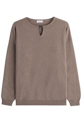 Brunello Cucinelli Virgin Wool Pullover With Cashmere And Silk Grey