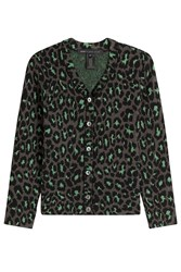 Marc By Marc Jacobs Animal Print Cardigan With Wool Green