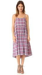 The Great Tea Time Dress Washed Cherry Plaid