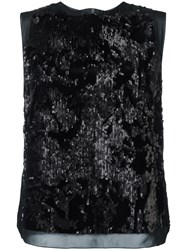 Giorgio Armani Sequined Top Black