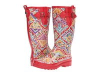 Sakroots Rhythm Sweet Red Brave Beauti Women's Rain Boots Brown
