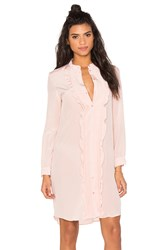 Cacharel Ruffle Shirt Dress Pink
