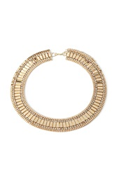 Forever 21 Rhinestone Encrusted Statement Necklace Gold Clear
