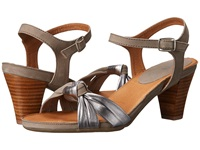 Ara Roux Grey Nubuk Gun Metallic Women's Sandals Gray