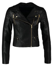 Miss Selfridge Faux Leather Jacket Black