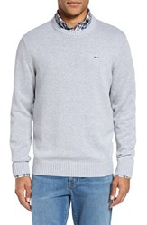 Vineyard Vines Men's 'Whale' Classic Fit Cotton Crewneck Sweater Minnow Gray