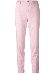 Fay Slim Fit Chinos Pink And Purple