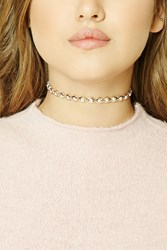 Forever 21 Faux Pearl Choker Gold Cream