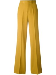 Pt01 Tailored Straight Trousers Yellow Orange