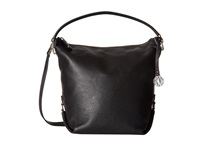 Dkny Crosby Fashion Han Top Zip Bucket W Det Shoulder Strap Black Hobo Handbags