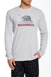 Lucky Brand Graphic Thermal Tee Gray