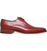 Barker Ewan Leather Derby Shoes Mid Brown