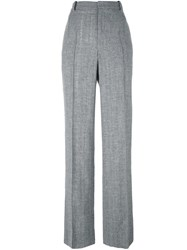 Calvin Klein Collection Pleated Straight Leg Trousers Grey
