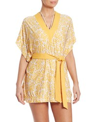 Michael Kors V Neck Tunic Sunflower
