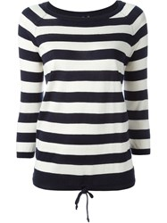 Woolrich Striped Boat Neck Jumper Nude And Neutrals