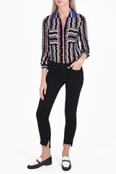 Missoni Striped Knit Shirt Black