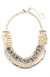 Women's Topshop Chunky Stone And Crystal Statement Necklace