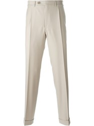 Canali Tailored Trousers Nude And Neutrals