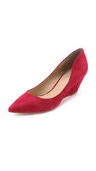 Belle By Sigerson Morrison Whitney Suede Pumps Red