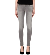 Maje Jaw Skinny Mid Rise Jeans Gris