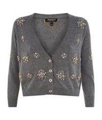 Juicy Couture Embellished Cropped Cardigan Grey