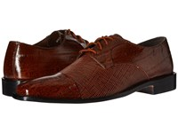 Stacy Adams Gatto Leather Sole Cap Toe Oxford Mustard Men's Lace Up Cap Toe Shoes Yellow