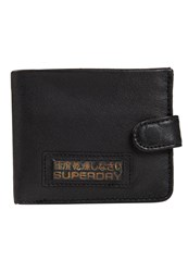 Superdry Tab Wallet In A Tin Black Leather