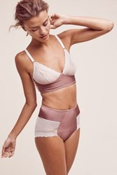Anthropologie Fortnight Loire Highwaist Briefs Mauve