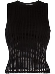 Alexander Wang T By Perforated Top Black