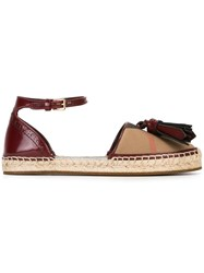 Burberry House Check Espadrilles Red