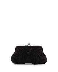 Franchi Courtney Knotted Satin Evening Clutch Bag Black