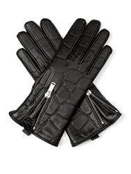 Embossed Leather Gloves
