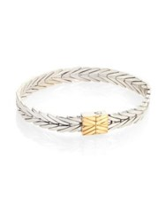 John Hardy Modern Chain 18K Yellow Gold And Sterling Silver Bracelet Silver Gold