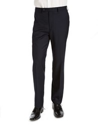 Calvin Klein Classic Fit Flat Front Dress Pants Navy