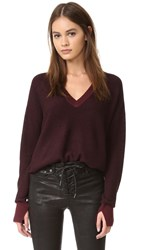 Rag And Bone Taylor V Neck Sweater Port