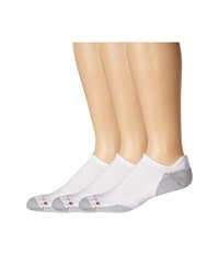 Drymax Sport Running No Show Tab 3 Pair Pack White Grey Low Cut Socks Shoes