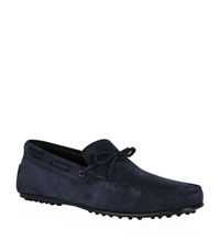 Tod's Laced Suede Loafer