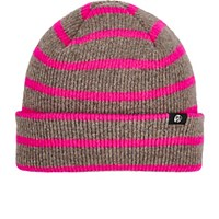 Paul Smith Ps By Men's Striped Rib Knit Lambswool Beanie Grey Pink Grey Pink
