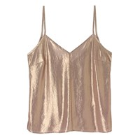 A Day In A Life Gold Foil Chiffon Camisole Top