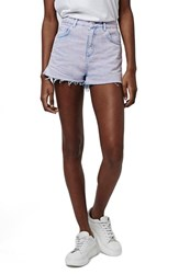 Women's Topshop High Rise Acid Wash Denim Shorts