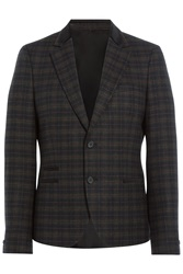 The Kooples Plaid Wool Blend Blazer Multicolor