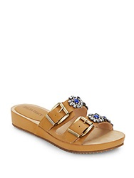 Ellen Tracy Patrick Jeweled Sandals Sand Dune