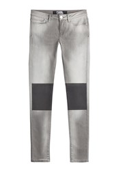 Karl Lagerfeld Skinny Jeans With Coated Knees Grey