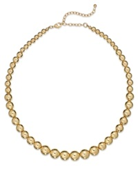Charter Club Gold Tone Graduated Bead Collar Necklace